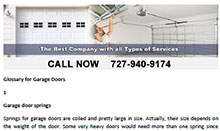 Glossary for Garage Doors in Indian Rocks Beach - Click here to download